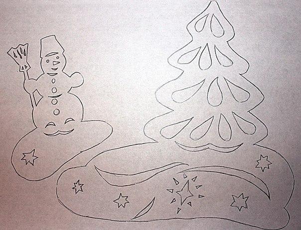 Как сделать трафарет снежинок своими руками