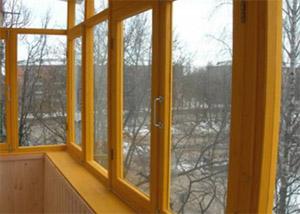 Остекление балконов деревом. застеклить лоджию деревянными р.