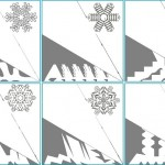 Шаблон для снежинок из бумаги