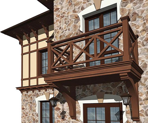 Ограждение балконов деревянного дома..