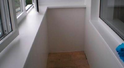 Отделка балкона гипсокартоном, гипсокартон на лоджии