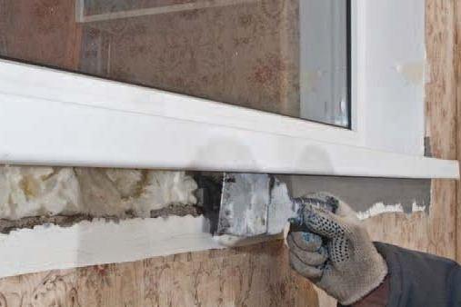 Герметизация стыков бетона и металла