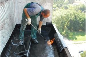 Устранение протечки крыши балкона