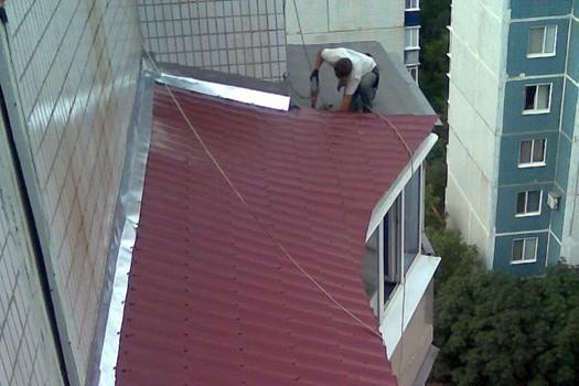 Как сделать козырек над балконом своими руками 83