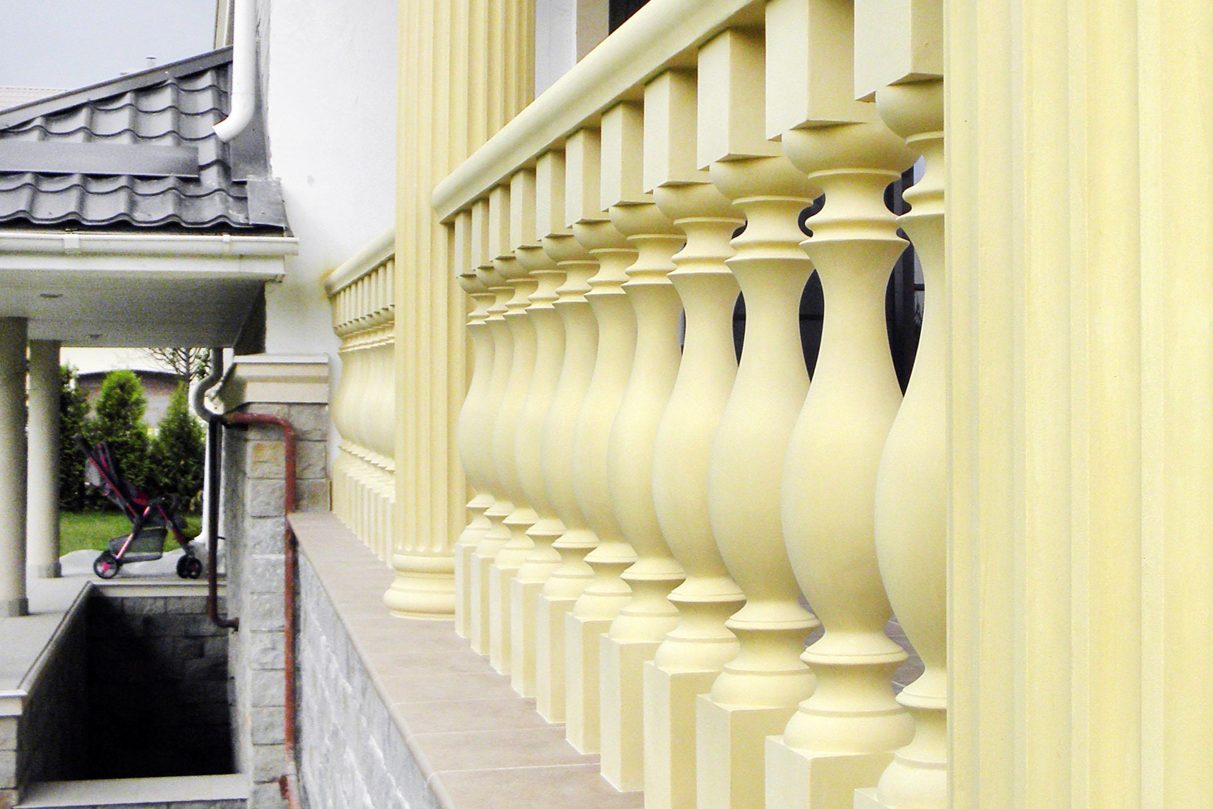 Балюстрада из полиуретана: декоративное украшение фасада без.