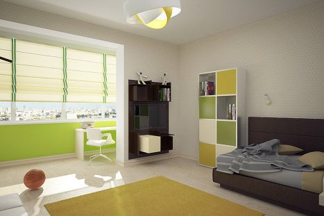 комната объединенная с лоджией фото