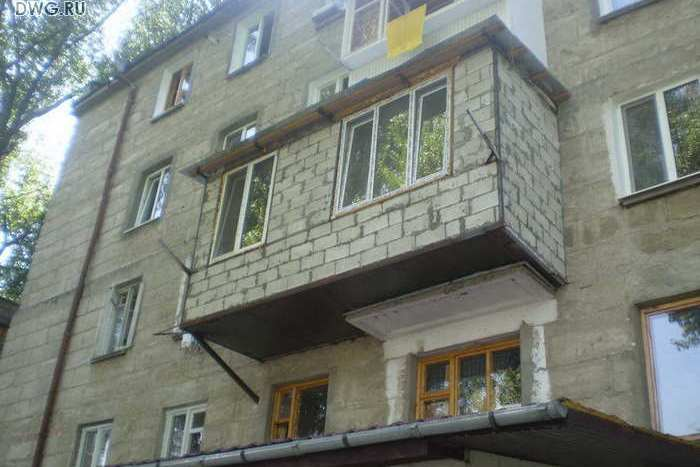 Увеличение балкона