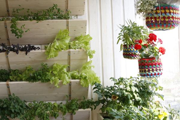 Полки для цветов на балконе фото.