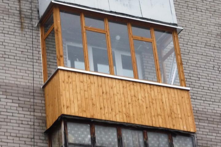 Наружная обшивка балкона своими руками 87