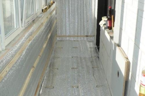 Гидроизоляционные панели для балконов.