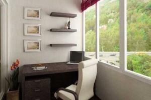 Фото кабинета на балконе