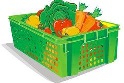 Пластиковая тара - чтобы не делать ящики для хранения овощей своими руками