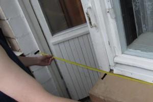 Как правильно замерить проём балконной двери