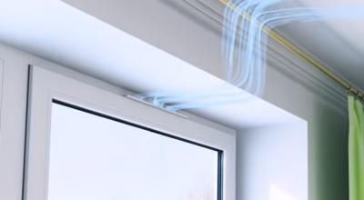 Клапан приточной вентиляции на пластиковые окна