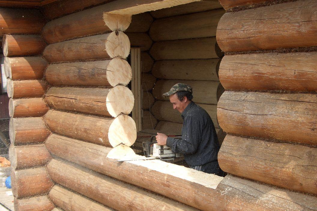 Оконные проемы в деревянном доме своими руками