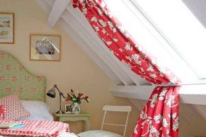 Оформление мансардных окон шторы, жалюзи, рольставни, занавески