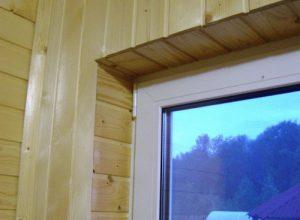Какие выбрать откосы и подоконники в деревянном доме и как установить (видео)