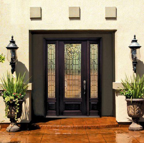 Входные стеклянные двери для частного дома