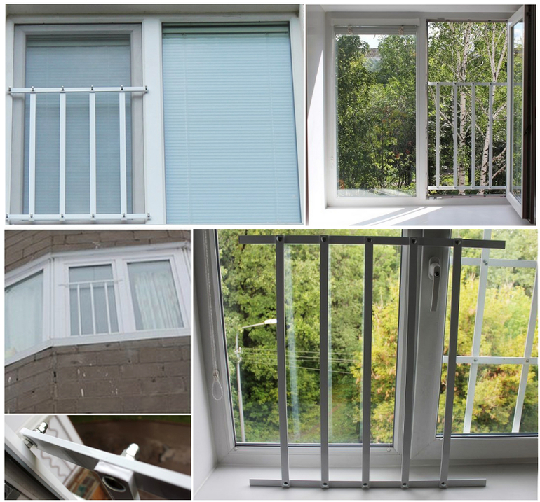 Ставим решетки на пластиковые окна для защиты детей. вариант.