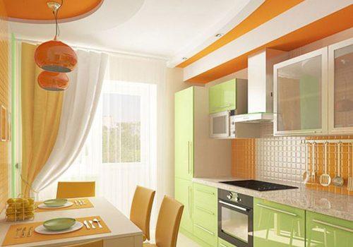 Идеи дизайна штор для кухни с балконной дверью