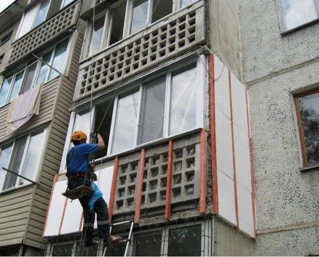 Как и чем утеплить балкон снаружи,технология утепления конст.