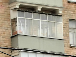 сталинский балкон с крышей