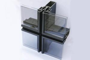 Полуструктурная система фасадного остекления