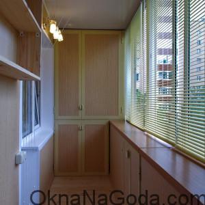 Выносное остекление балкона расширяет объем балкона, без увеличения площади по полу
