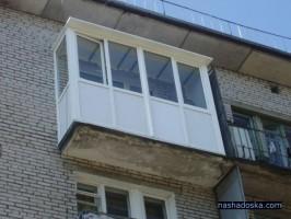 остекление балкона в хрущевке ПВХ профилем