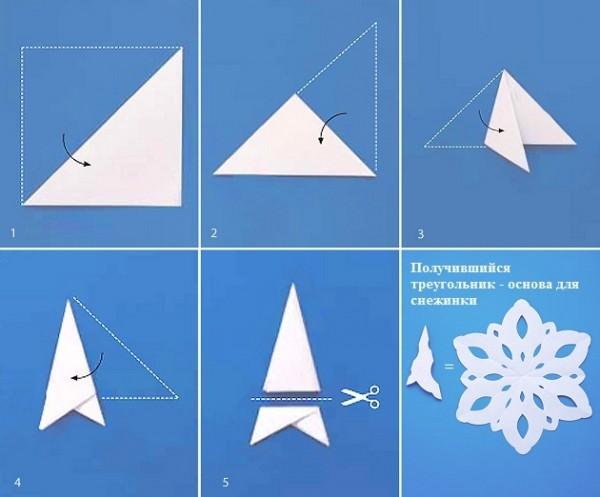 Делаем бумажную снежинку своими руками