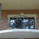 Кованый балкон в стиле барокко