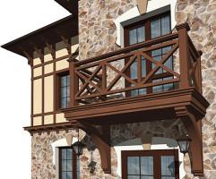 фото деревянного балкона