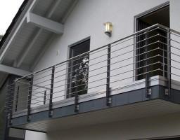нержавеющая ограда балкона