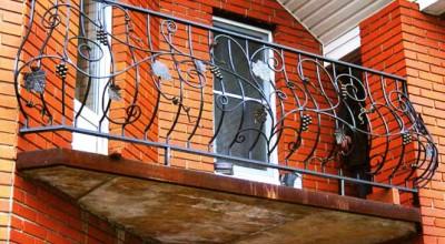 образец перил для балкона