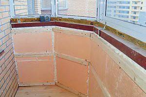 Дополнительное утепление балкона гипсокартоном