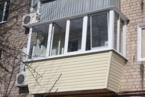 Вынос остекления балкона с ПВХ профилем
