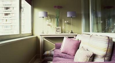 Дизайн лоджии в маленькой квартире