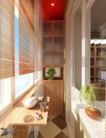 Остекленный и утепленный балкон, присоединенный к комнате