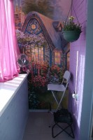 Фиолетовый балкон
