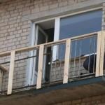 Наружная обрешетка балкона