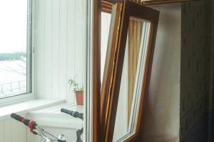 Деревянный профиль окна МобиФон