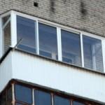 Остекление балкона однокамерным стеклопакетом