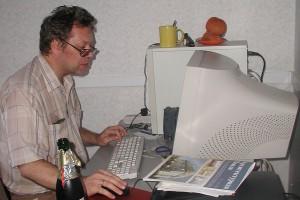 Павел Курень в своём кабинете на балконе