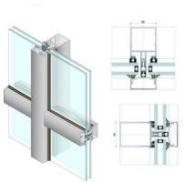 Одна из разновидностей стоечно-ригельного крепления стекла