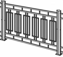 Прямоугольники в ограде принесут стабильность в дом