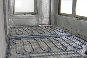 Балкон с кабельным теплым полом