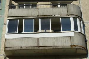 Балкон со счастливым, по Фен-Шую, закруглением