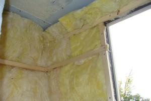 Утеплитель балкона в виде минеральной ваты
