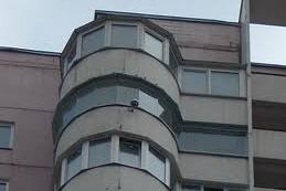 Счастливый по Фен-Шую балкон в форме ротонды