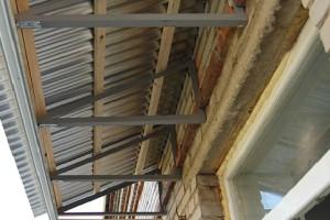 Крыша балкона до обшивки